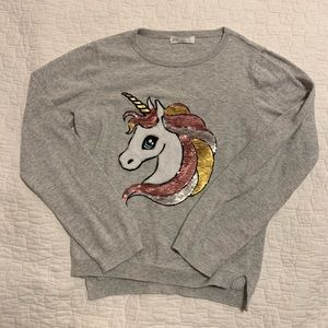 5 for $20 Colorful sequin unicorn pullover